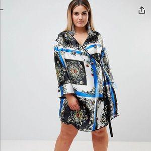 Brand New - ASOS print wrap dress